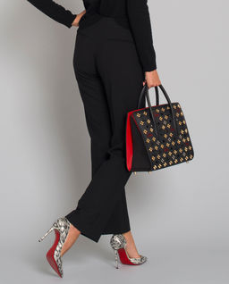 Czarne spodnie z wełną