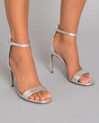 Sandały ze skory na szpilce
