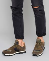 Sneakersy Camouflage Studded
