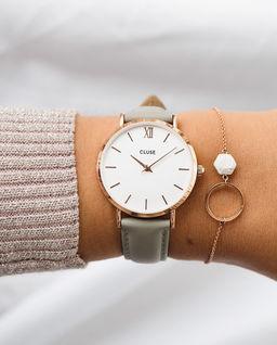 Zegarek Minuit Rose Gold White/Grey