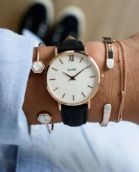 Zegarek Minuit Rose Gold White/Black