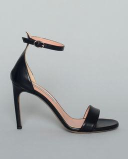 Sandały skórzane na szpilce