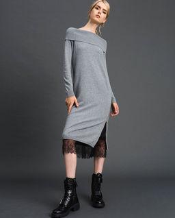 Sukienka z koronkową halką