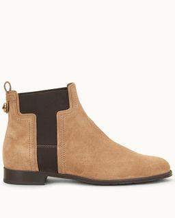 Hnědé semišové jezdecké boty