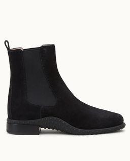 Černé semišové jezdecké boty