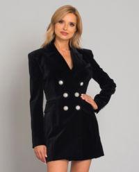 Czarna sukienka z guzikami