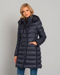 Granatowy płaszcz Hermine