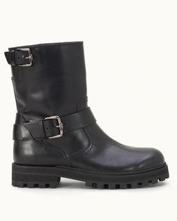 Černé kožené botky