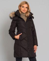 Płaszcz z naturalnym futrem