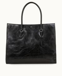 Czarna torebka shopper large