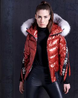 Pikowana kurtka z futrem