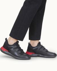 Skórzane czarne sneakersy