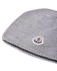 Szara wełniana czapka