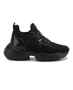 Czarne sneakersy Interaction