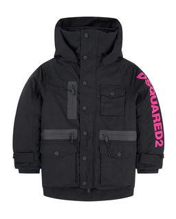 Czarna kurtka z kapturem 10-14 lat