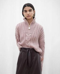 Różowy sweter Eria