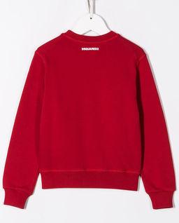 Czerwona bluza z logo 4-16 lat