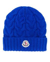 Niebieska wełniana czapka