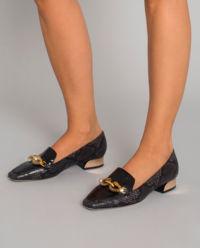 Černé loafery Jessa