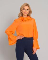 Pomarańczowa bluzka z jedwabiu