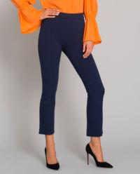 Tmavomodré kalhoty s knoflíky