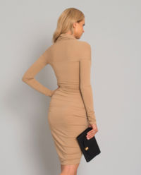 Béžové mini šaty