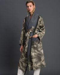 Wełniany płaszcz Camouflage