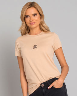 Bawełniany t-shirt z wzorem skarabeusza