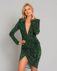 Zielona sukienka w cętki
