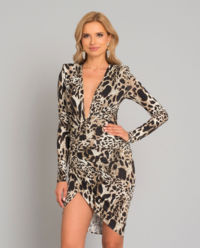 Mini šaty s levhartím vzorem