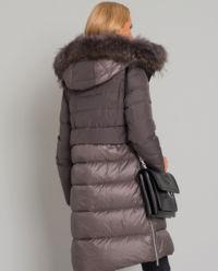 Péřový voděodolný kabát s kožichem