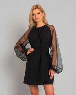 Sukienka z transparentnymi rękawami