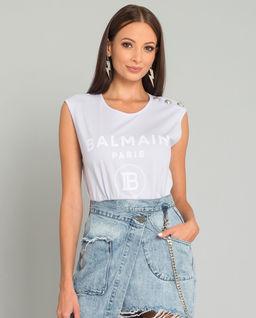Liliowy t-shirt z logo