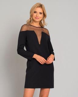 Sukienka z transparentną aplikacją