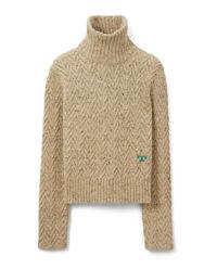 Béžový svetr s rolákem
