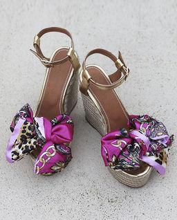 Sandály na klínku Pink Paradise