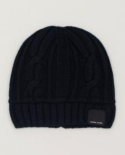 Černá vlněná čepice