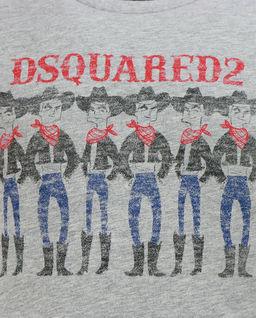 Szara koszulka z nadrukiem 8-16 lat