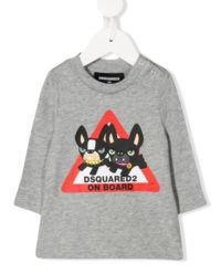 Szara koszulka z nadrukiem 0-3 lata