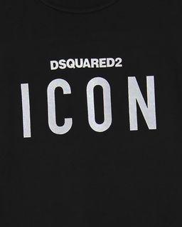 Czarna koszulka z logo 8-16 lat