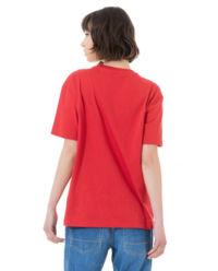 Czerwony t-shirt z logo
