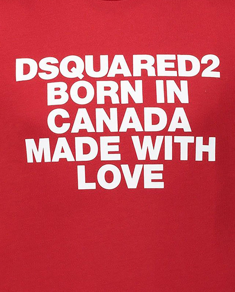 Czerwona koszulka z nadrukiem 8-16 lat
