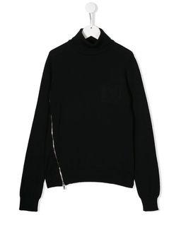 Czarny sweter z golfem 10-16 lat