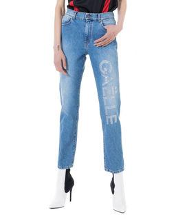 Spodnie jeansowe z aplikacją