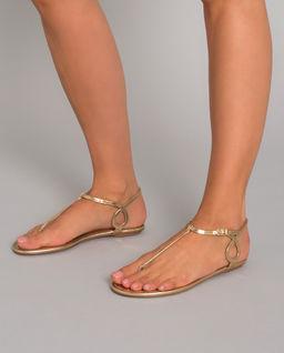 Złote sandały Almost Bare