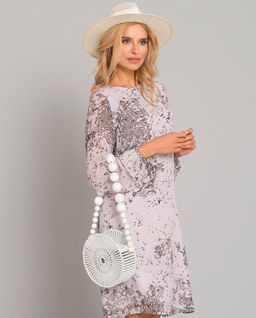 Sukienka midi we wzory