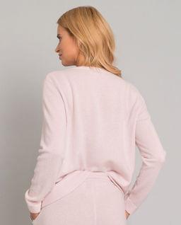 Kaszmirowy sweter z grafiką gwiazdy