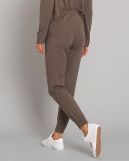 Oliwkowe spodnie z kaszmiru