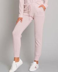 Różowe spodnie z kaszmiru