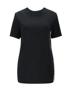 Czarny t-shirt z lampasem